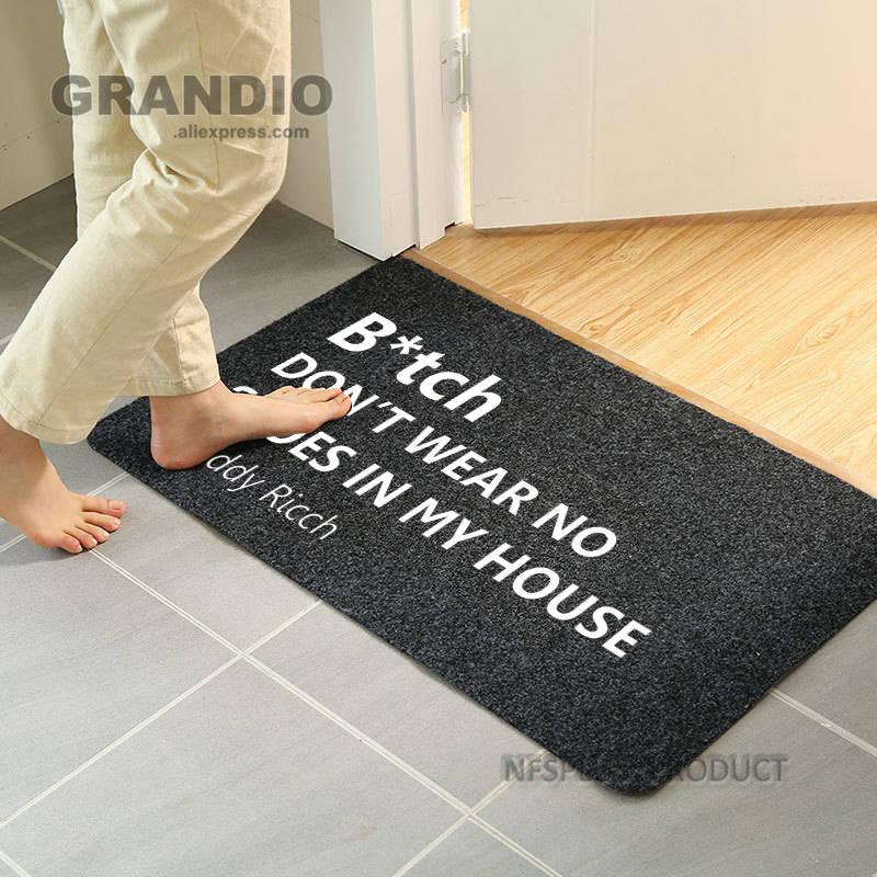 Front Door Mat Entrance Doormat 40x60cm Polyester Fiber Waterproof Shoes Clean Mat Carpet Rubber Anti-Slip Floor Mat Rugs