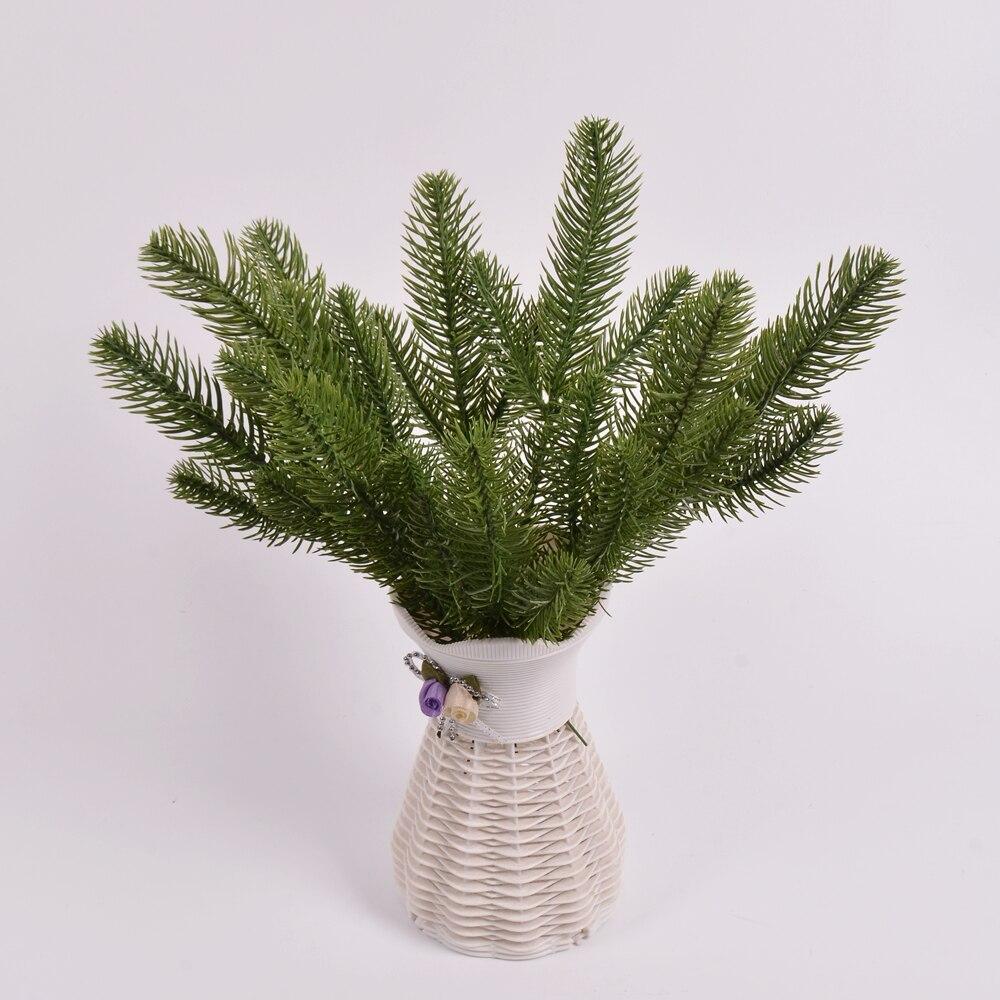 10 шт./лот искусственные сосновые иглы, искусственные растения, украшения для рождественской елки, украшения для дома и свадьбы, искусственн...