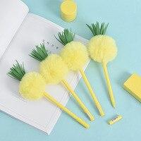 1 pc caneta de gel de abacaxi  fornecedor de escritório da escola.   -