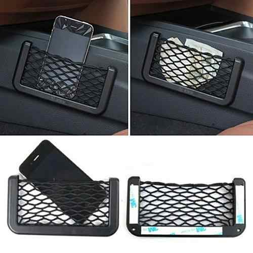 Evrensel araba aksesuarı koltuğu yan arka depolama Net çanta telefon tutucu cep düzenleyici