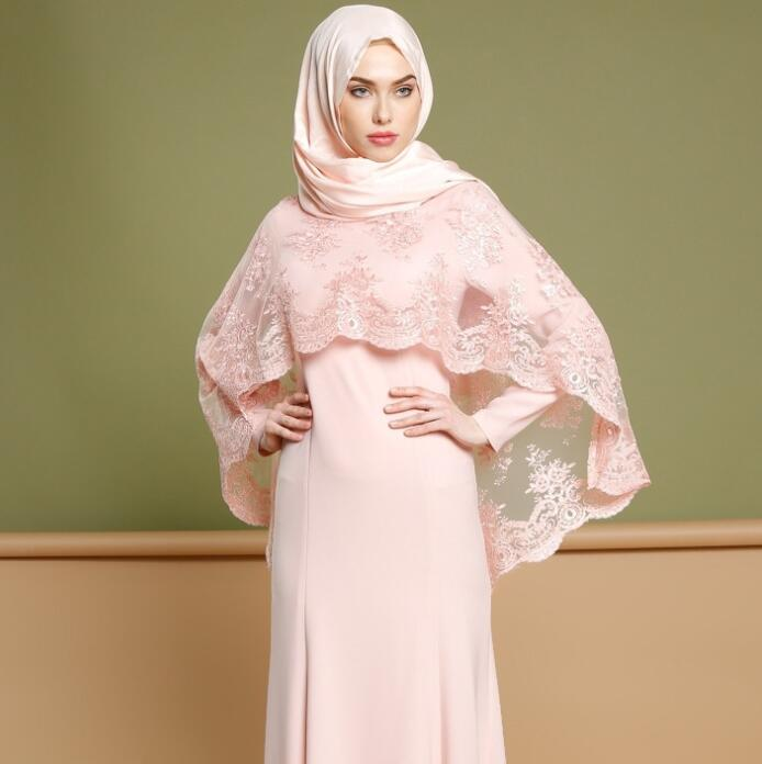 Muslim Fashion Party Dress long Two Piece Embroidered Prom Gown Floor Length Custom Made Eid al-Fitr Robes
