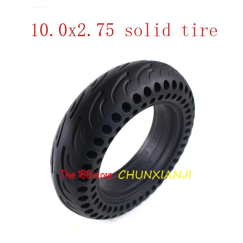 Date 10.0x2.75 solide Tyre10 * 2.75 pneu Tubeless pour 10 ''planche à roulettes électrique Hoverboard éviter Anti-crevaison Non pneumatique
