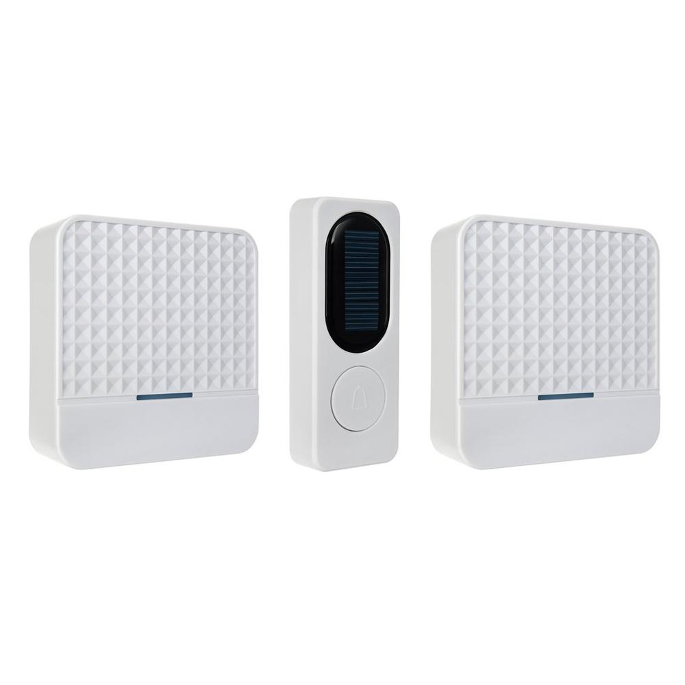 Solar Powered Wireless Doorbell Home Door Bell Safety Alert System With Night Light Waterproof Drop Shipping