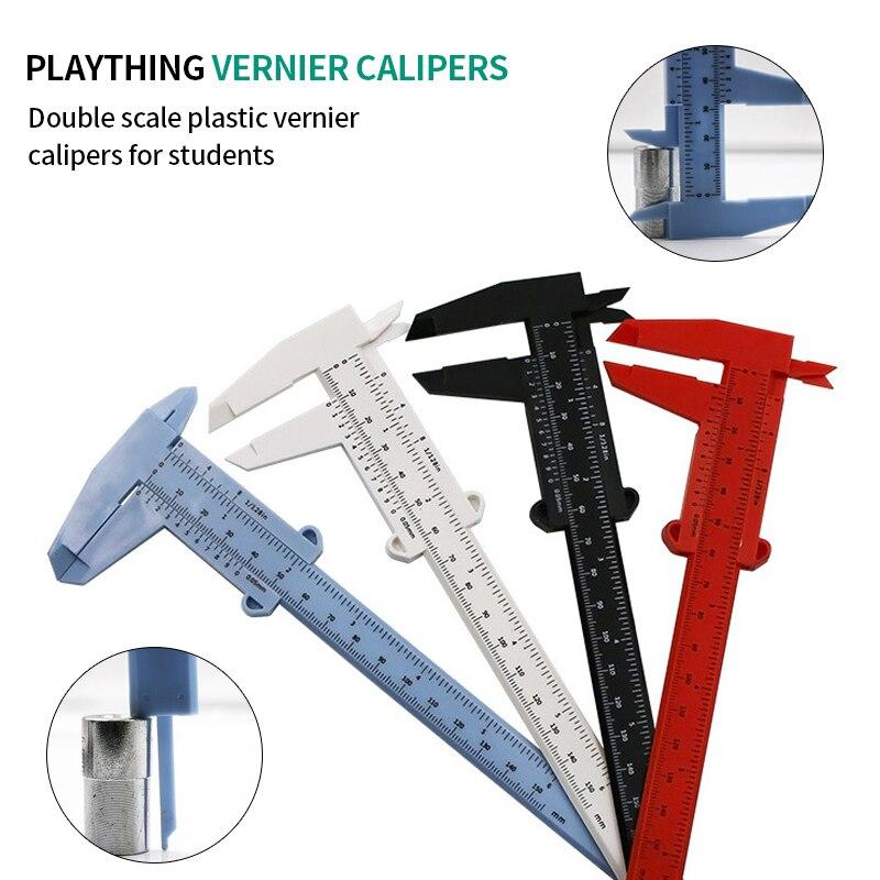 0-80mm/0-150mm 0.5mm Vernier Caliper Double  Scale Plastic Vernier Caliper Measuring Student Mini Tool Ruler Vernier Caliper