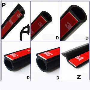 Car Door Seal Strip Rubber 6M Big D Type Z Type P Type Waterproof Trim Sound Insulation Soundproof 6 Meters Car-Styling(China)