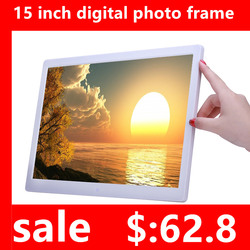 New 15/14 inch Screen LED Backlight HD 1280*800 Digital Photo Frame Electronic Album Picture Music Movie Full Function Good Gift