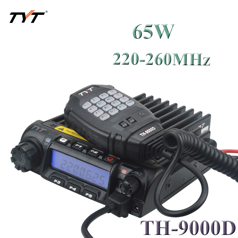 50km Walkie Talkie TYT TH-9000D 220-260MHz 65Watt 200CH Analog Intercom Mobile Radio