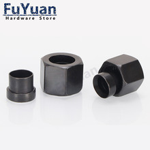 1PCS high pressure Hydraulic Joint Set Flared Cap Fittings 8/10/12/14/18 Flared Nut Sleeve Joint