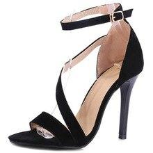 2020 ankle strap high heel women sandals thin heel fashion open toe sandals women black red shoes women