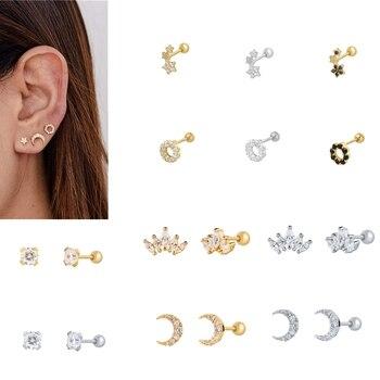 Romad Fashion 925 Sterling Silver  Zircon Stud Earrings For Women Wedding Jewelry Gifts 1pc