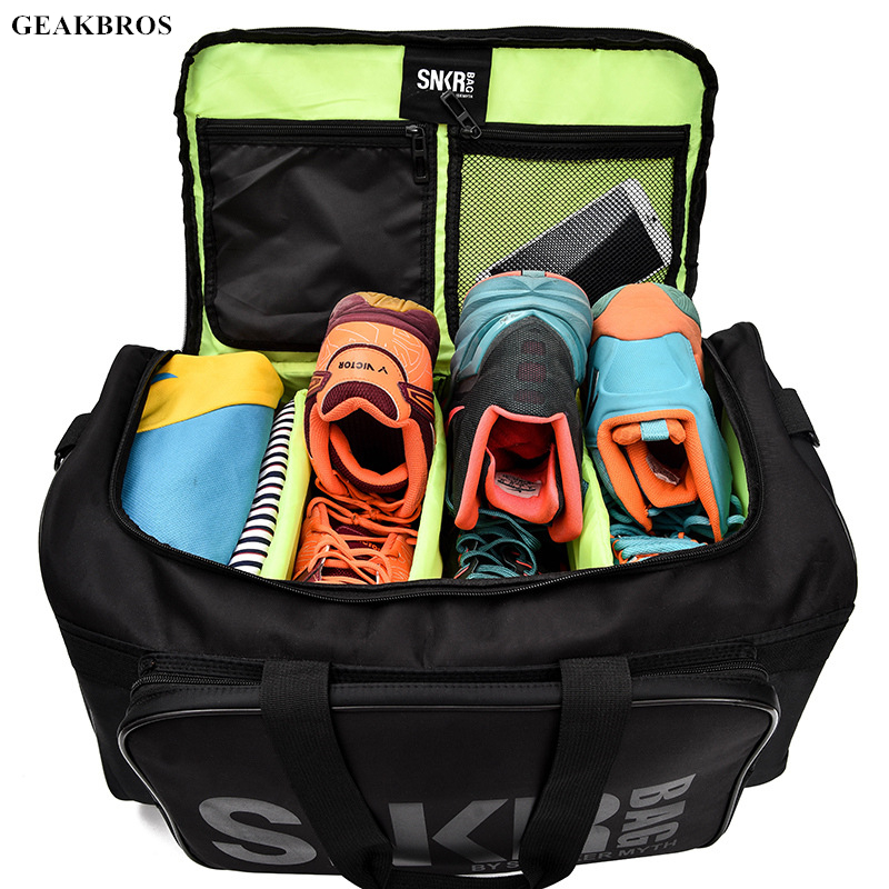 Men Women Fitness Gym Bag For Sneaker Shoes Compartment Packing Cube Organizer Waterproof Nylon Sports Travle Duffel Bags