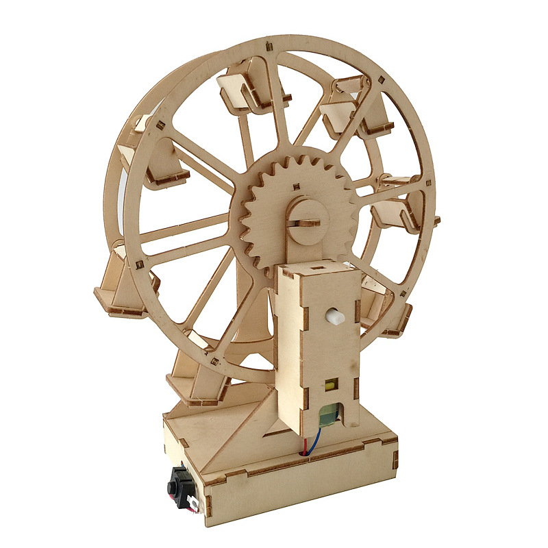 Creative Electric Ferris Wheel DIY Science STEM Toys Set Wooden Puzzle Craft Technology Educational Toys For Children