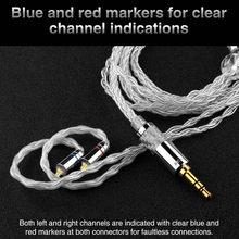 TRN T3 8 câble pur argent 3.5mm 0.78mm 2Pin mise à niveau câble écouteur pour TRN V90 TFZ KZAS10/ZS10 CCAC16 NICEHCK NX7 Pro/M6