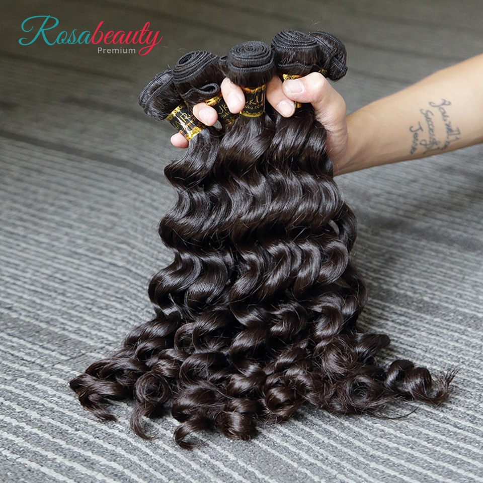 [Rosabeauty] OneCut Hair Wholesales Loose Curly 8-30 32inch H Brazilian Raw Virgin Unprocessed Hair Natural Color 100% Human Hair Weaving 10 Bundles Deal