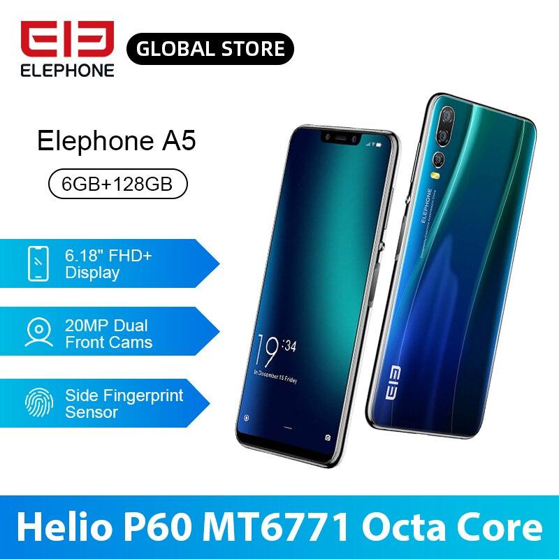ELEFON A5 P60 MT6771 Octa Core Smartphone 6GB 128GB 6,18 Zoll FHD + U-Kerbe Bildschirm 20MP vorder Cam 4000mAh 4G Android 8,1 Mobile