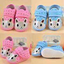 Newborn First Walkers Crib Shoe Girl Boy Soft Anti-Slip Sole Toddler Shoes Casual Canvas Sneaker Baby Infant Boy Girl Shoes(China)