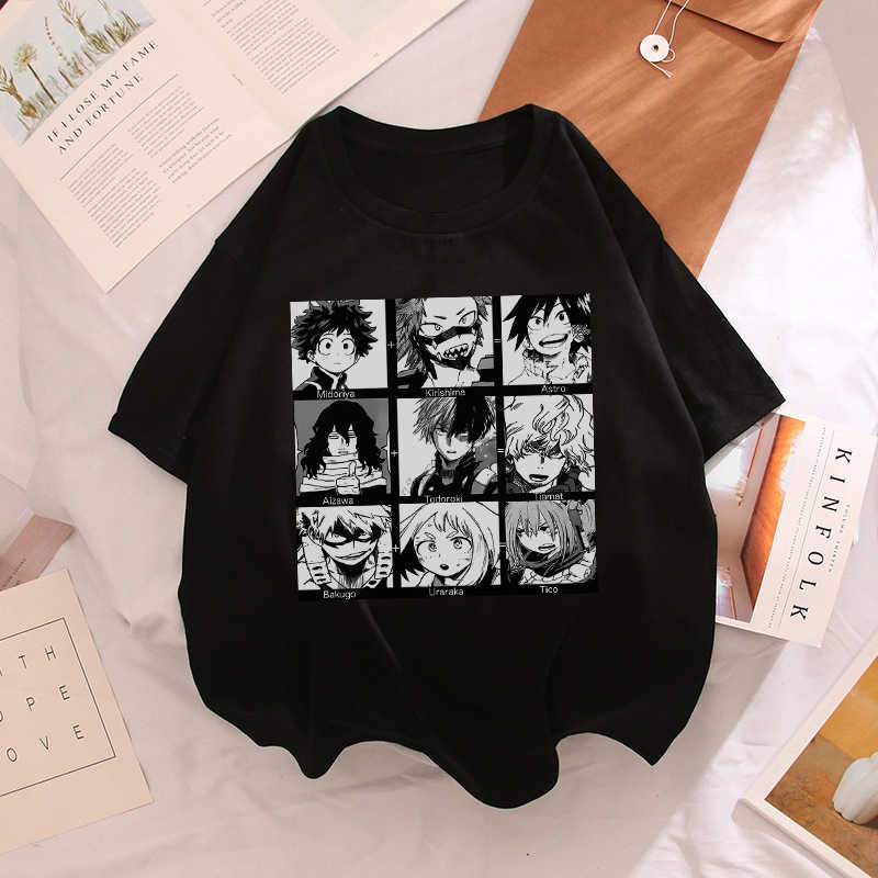 Anime Boku Geen Hero Academia Vrouwen T-shirt Midoriya Iida Mijn Hero Academia School Fun Kostuum Harajuku Japan Cartoon Casual Tops