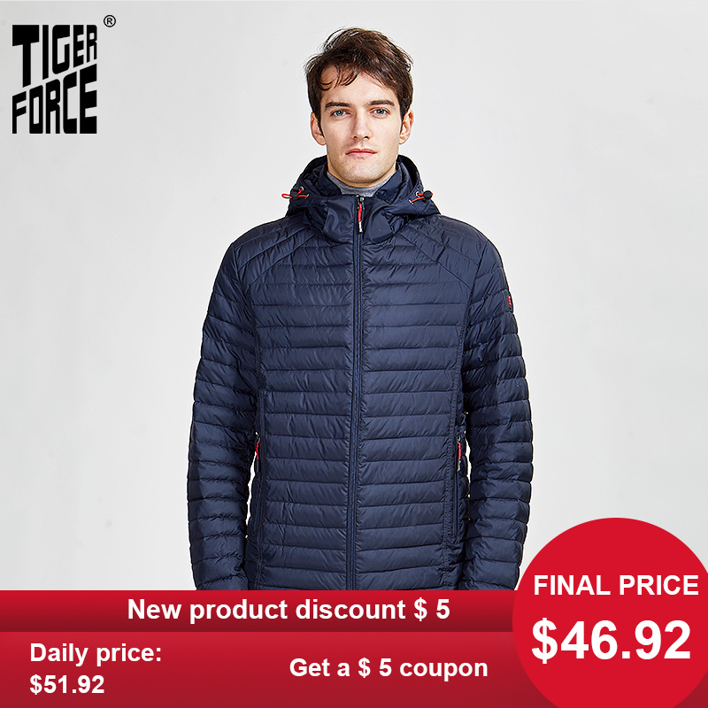 Tiger Force 2020 New Arrival Men Spring Autumn Jacket  High Quality Fashion Parka Hidden Hood Clothes Outerwear Zippers 50628