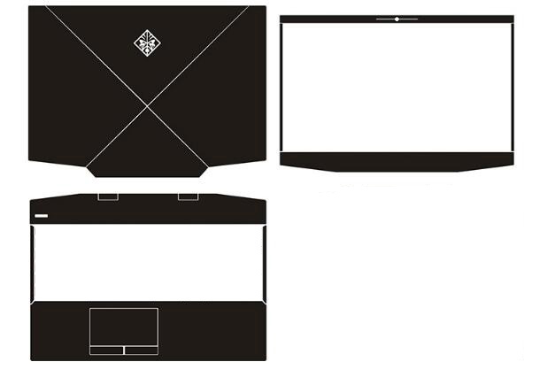Carbon Skin Sticker Cover For New HP Omen 15 DC0051nr dc0075TX dc0015nf dc0049TX