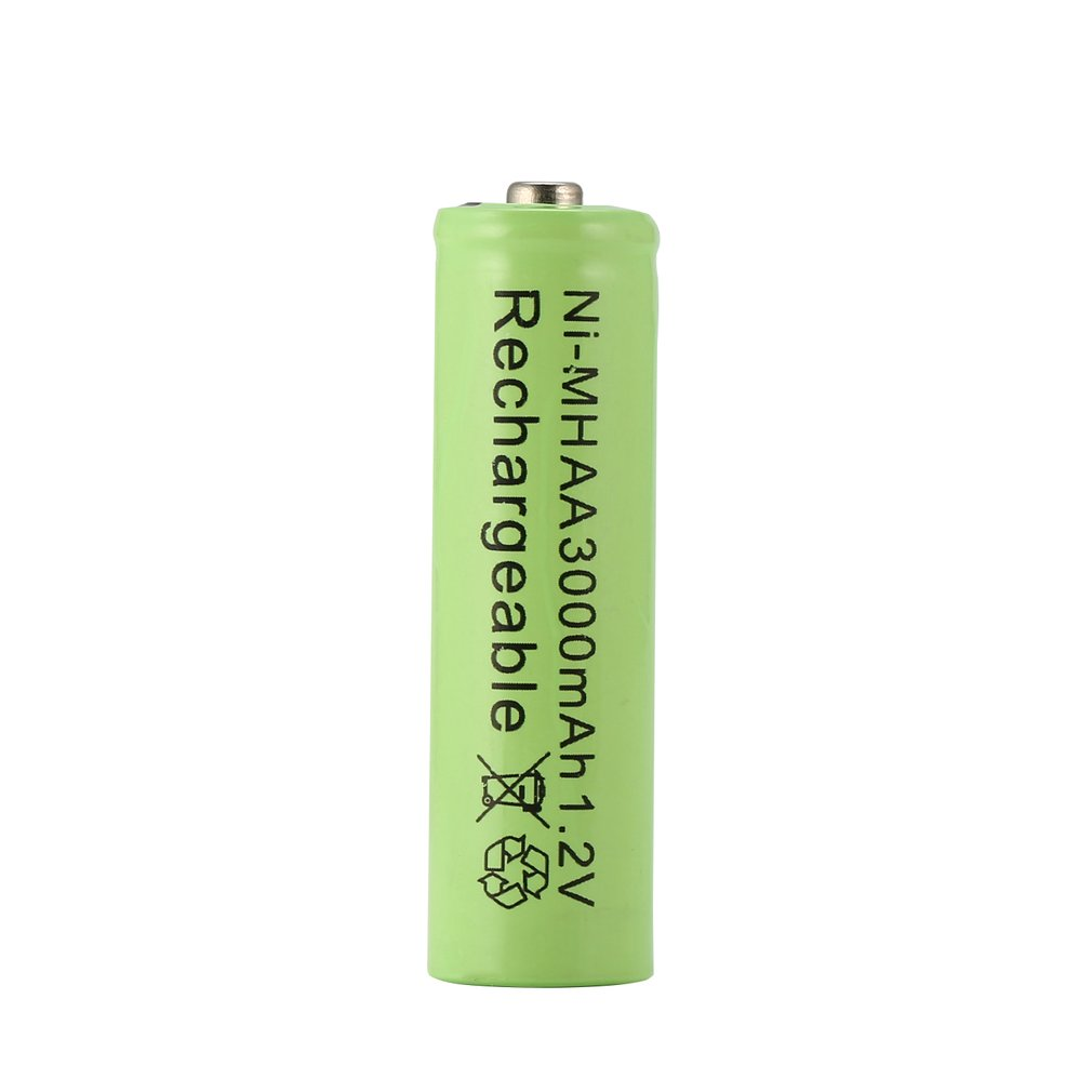 Green 1pc a lot Ni-MH 3000mAh <font><b>AA</b></font> <font><b>Batteries</b></font> <font><b>1.2V</b></font> <font><b>AA</b></font> Rechargeable <font><b>Battery</b></font> NI-MH Neutral <font><b>battery</b></font> for Flashlight/Camera image