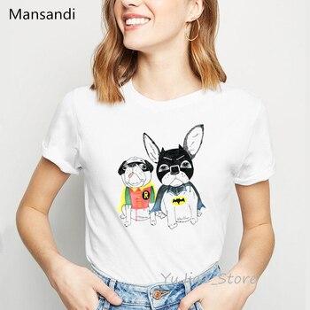 funny t shirts women Batman Catwoman dog animal print t-shirt camiseta mujer vogue tshirt femme harajuku shirt kawaii clothes