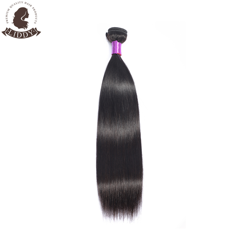 Liddy Straight Hair Bundles Brazilian Hair Weave Bundles 100% Human Hair Bundles Natural Color Non-remy Hair Weave 1/3/4 Pieces