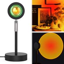 sunset projection LED lamp reflection, rainbow floor bracket modern lamp night light for Living Room Bedroomand