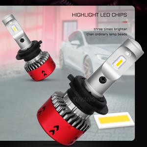 Image 3 - 2x3000 k זהב רכב Led פנס אור CSP שבב H1 H4 היי/נמוך 9003 HB2 H7 H8 h11 9005 HB3 9006 HB4 אוטומטי ערפל LED הנורה 9600LM 72W