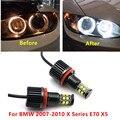 Для BMW 2007-2010 серии X E70 X5 240W белый ультра яркие красные/зеленые/без ошибок 6000K светодиодный светильник лампы h8 / h11 Светодиодный Ангельские глаз...