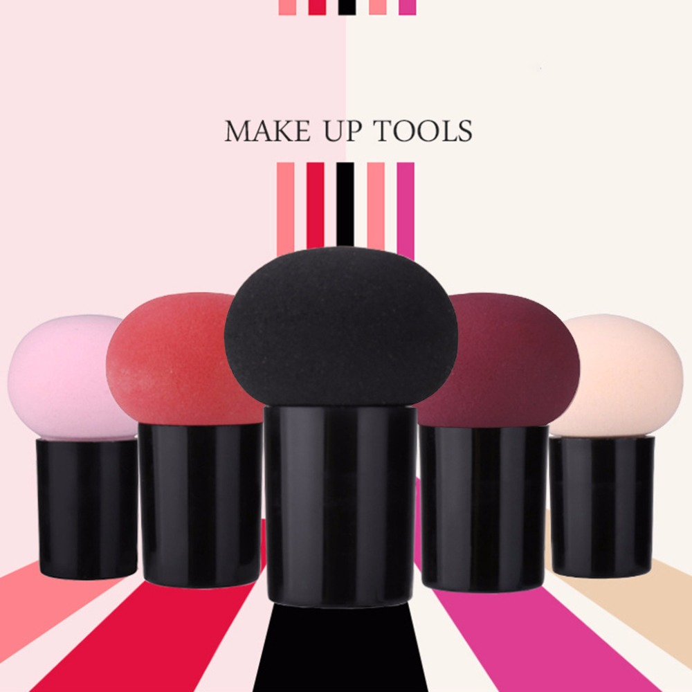 Makeup Foundation Sponge Cute Mushroom Shape Head Makeup Foundation Sponge Cosmetic Puff Powder Brush Beauty Tool in Cosmetic Puff from Beauty Health