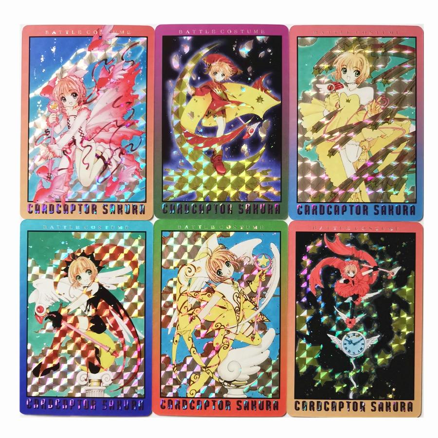 18pcs/set Magical Girl Card Captor SAKU Toys Hobbies Hobby Collectibles Game Collection Anime Cards