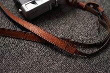 Sr. stone artesanal de couro genuíno câmera alça ombro sling cinto seção fina (alça de ombro ajustável)