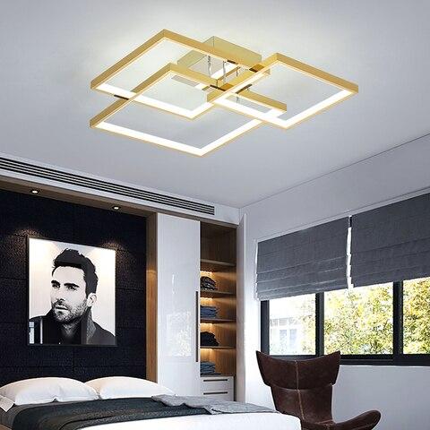 quadrado moderno led lustre para sala