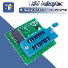 Adaptador de 1.8V Para 1.8V Motherboard SPI Flash SOP8 DIP8 W25 MX25 Uso Em Programadores TL866CS TL866A EZP2010 EZP2013 EZP2019 CH341A