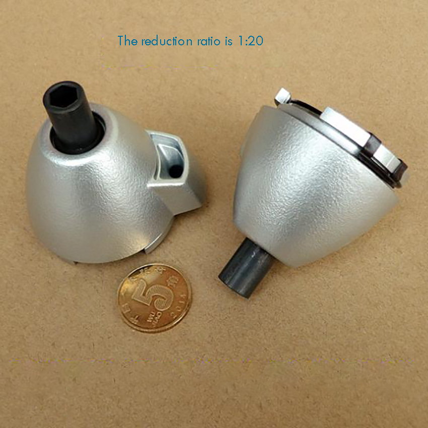 Planetary Gearbox Reducer With Start Gear, Strong Magnetism, Three-Stage Speed Reducer Ratio 1:20 Planetary Gearbox