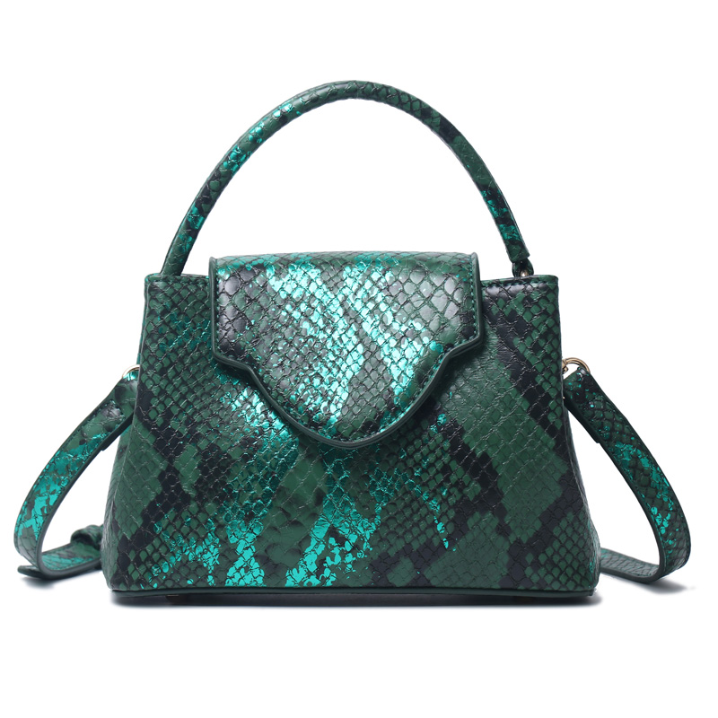 Special Women Ostrich Leather Tote Bag Snake Pattern Leather Shoulder Bags For Party
