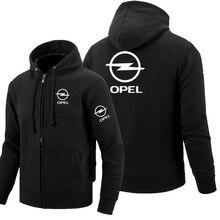 Zipper Hoodies Opel logo Printed Hoodie Fleece Long Sleeve Man's zipper Jacket S