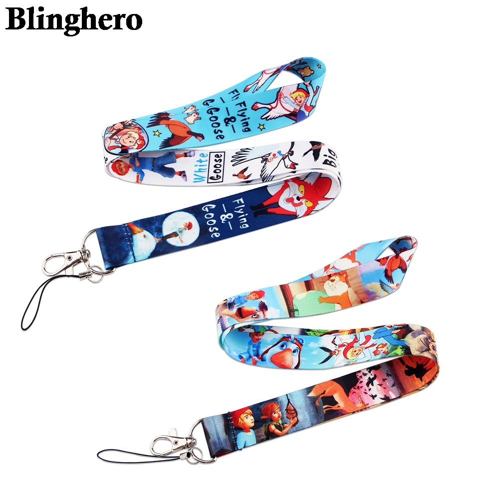 CA1516 Wholesale 10pcs/lot Goose Neck strap lanyard keychain cellphone strap ID badge holder rope key chain key chain accessory