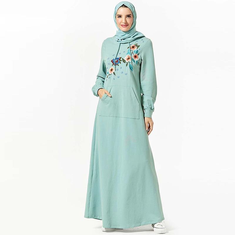 Vetement Femme 2019 Abaya Dubai Hijab Muslim Dress Islamic Clothing Women Turkish Dresses Caftan Abayas Vestidos Turcos Kleding