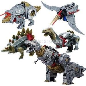 Image 2 - Robot de figurine 5 en 1, jouets de Transformation Dinoking volcanus Grimlock, boue, snarm Swoop slash Dinobots 5 en 1