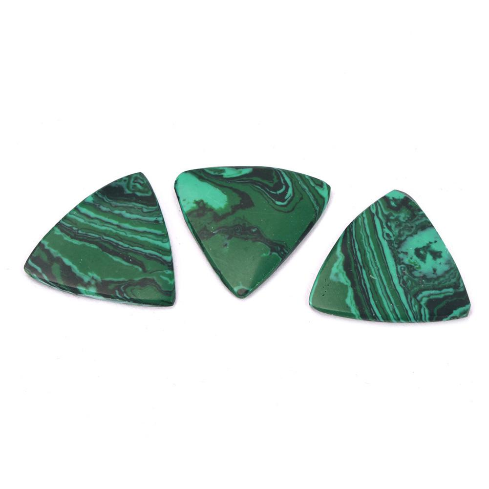 Triangle Malachite Stone Picks For Acoustic Classical Electric Guitar Bass Accessories