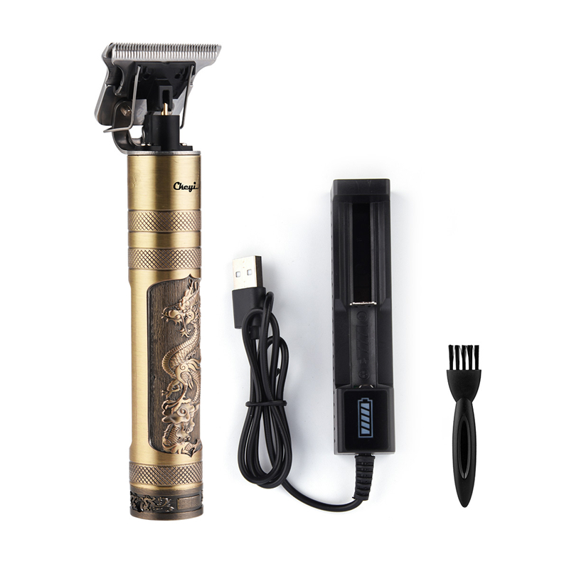 Quick Charge T Blade Close Cutting Hair Clipper Pro Li Outliner Baldheaded Hair Trimmer Cordless 0mm Hair Carving Machine Barber