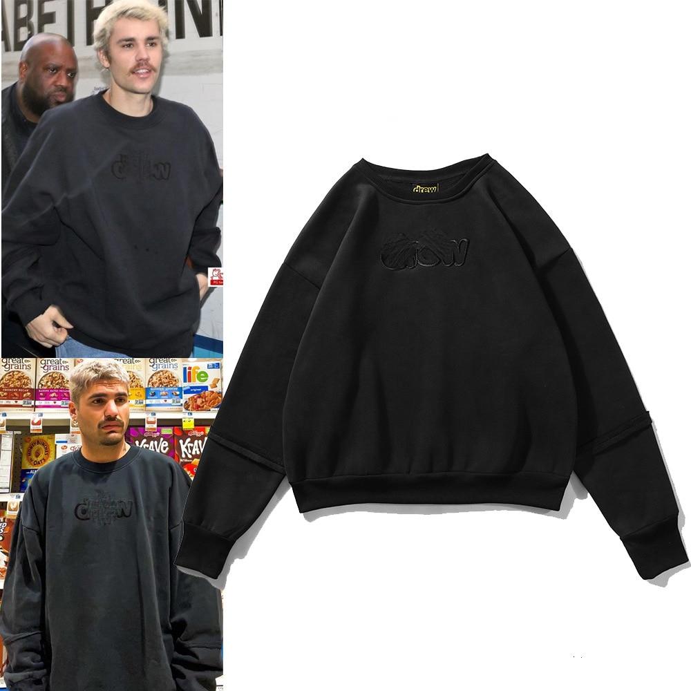 Neue Herbst und Winter männer und frauen Pullover Baumwolle Bestickt Hoodie Stil Bodenbildung Shirt High Street Marke Dicke top