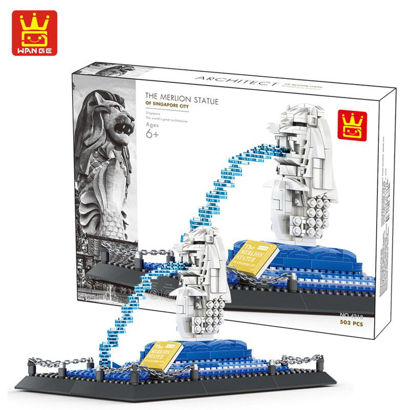 WANGE-The-Merlion-Architecture-Figure-Blocks-Construction-Building-Brick-Toys-For-Children-Christmas-Gift