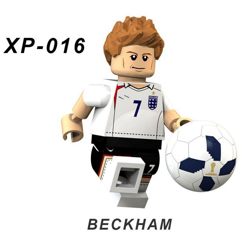 Singles David Beckham Football Team Player Figures Messi Beckham Building Blocks Figure Bricks Toy Kids Compatible Legoed