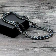 Новый простой классический Магнитный гематит бусы ожерелье с