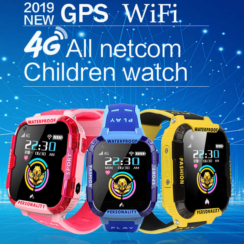 LIGE New GPS Kids smart watch safe positioning Remote monitoring smart watch For children support video call 4G SIM card WiFi