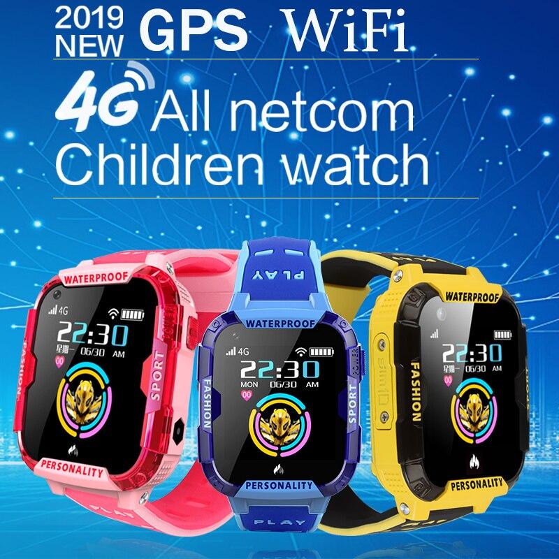 LIGE nouveau GPS enfants montre intelligente positionnement sûr surveillance à distance montre intelligente pour enfants soutien appel vidéo 4G carte SIM WiFi