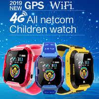 Lige novo gps crianças relógio inteligente posicionamento seguro monitoramento remoto relógio inteligente para crianças apoio chamada de vídeo 4g cartão sim wi-fi