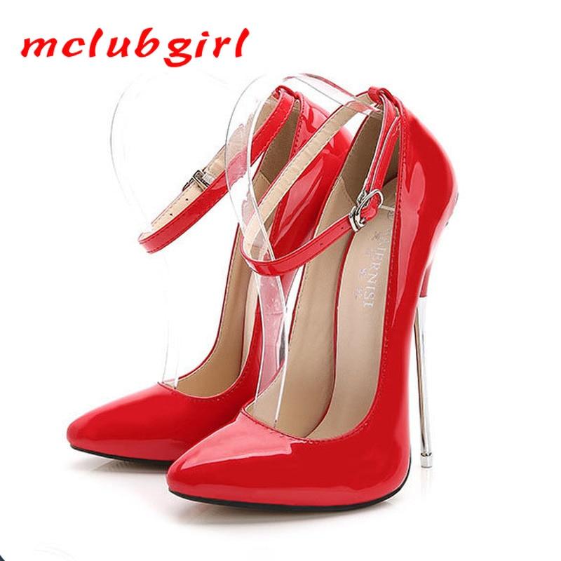 Женские туфли-лодочки MCLUBGIRL на очень высоком каблуке 16 см, 2020